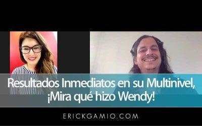 Resultados Inmediatos en su Multinivel, ¡Mira qué hizo Wendy!